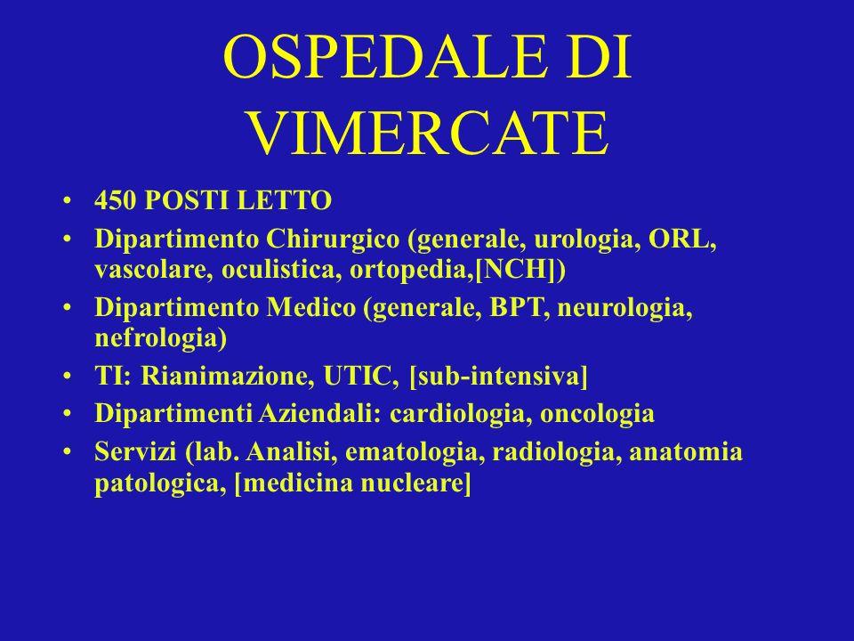OSPEDALE DI VIMERCATE 450 POSTI LETTO