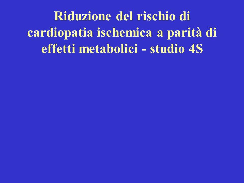 Riduzione del rischio di cardiopatia ischemica a parità di effetti metabolici - studio 4S