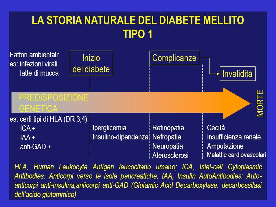 LA STORIA NATURALE DEL DIABETE MELLITO TIPO 1