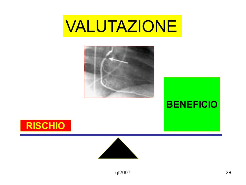 VALUTAZIONE BENEFICIO RISCHIO qt2007