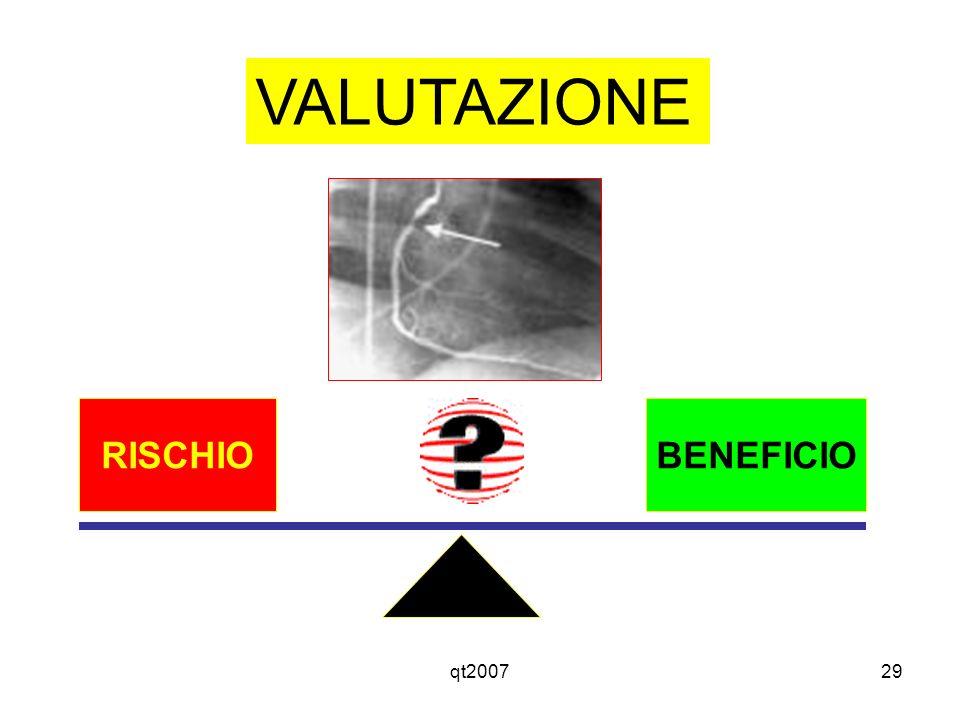VALUTAZIONE RISCHIO BENEFICIO qt2007