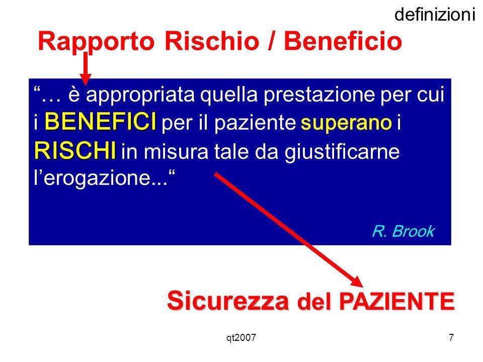 Rapporto Rischio / Beneficio