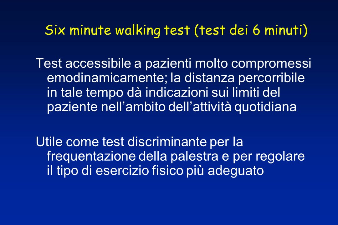 Six minute walking test (test dei 6 minuti)