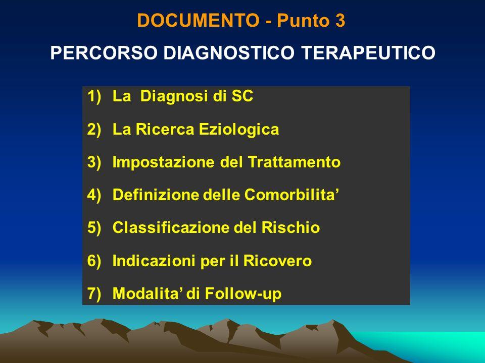 PERCORSO DIAGNOSTICO TERAPEUTICO
