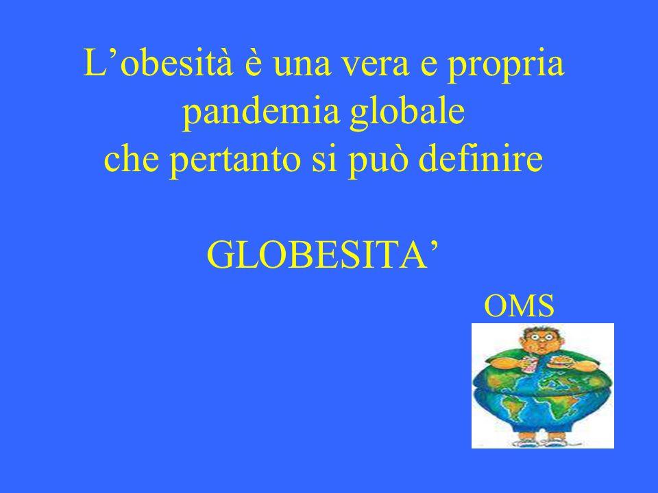 L'obesità è una vera e propria pandemia globale che pertanto si può definire GLOBESITA' OMS