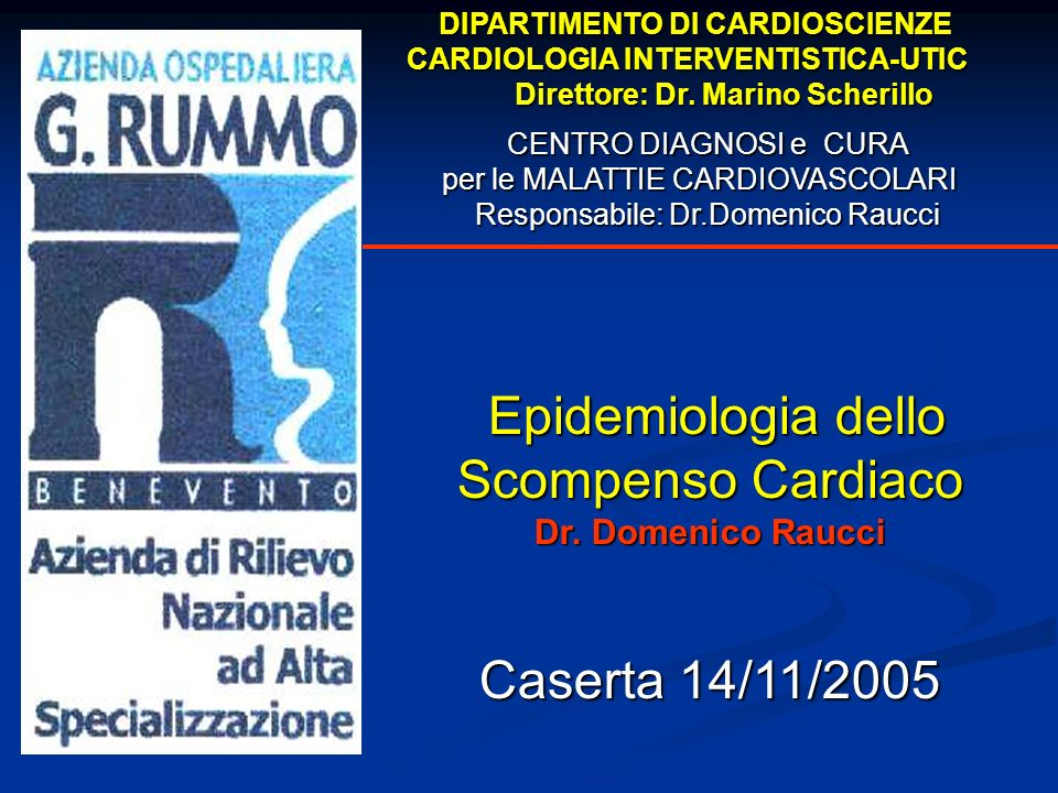 Epidemiologia dello Scompenso Cardiaco