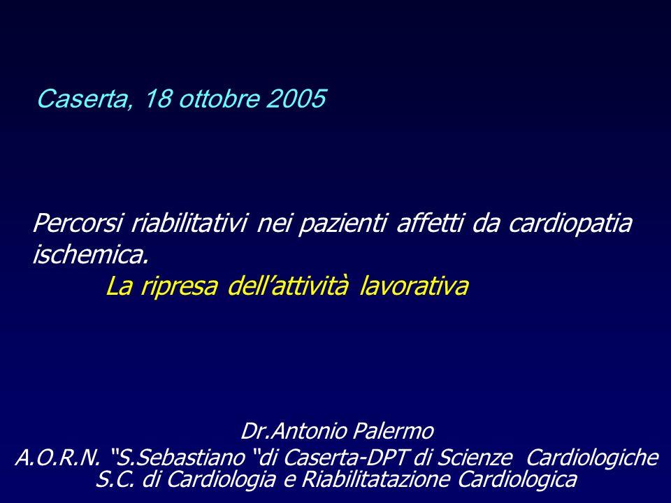Percorsi riabilitativi nei pazienti affetti da cardiopatia ischemica.