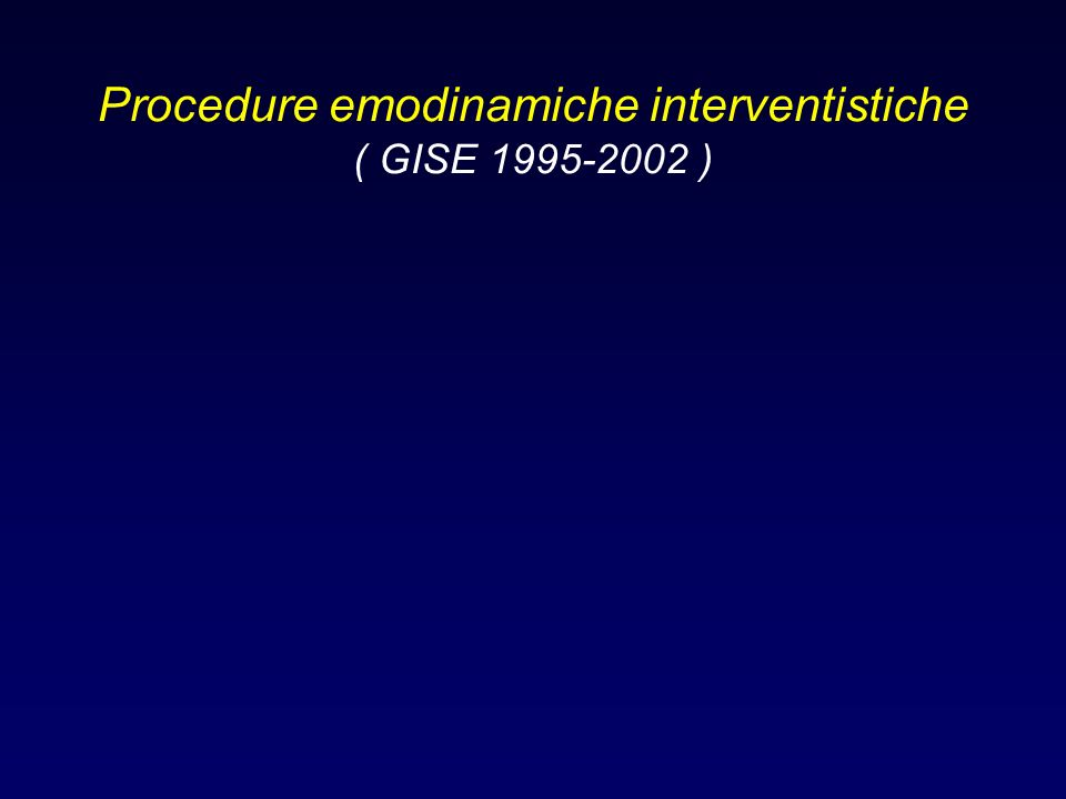 Procedure emodinamiche interventistiche ( GISE 1995-2002 )