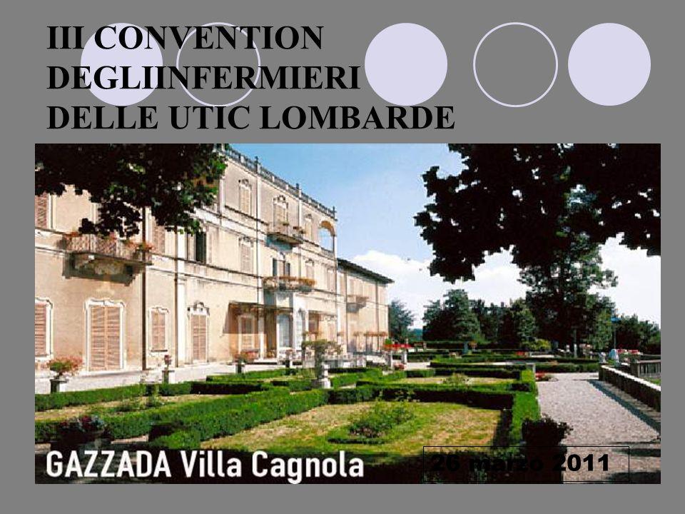 III CONVENTION DEGLIINFERMIERI DELLE UTIC LOMBARDE
