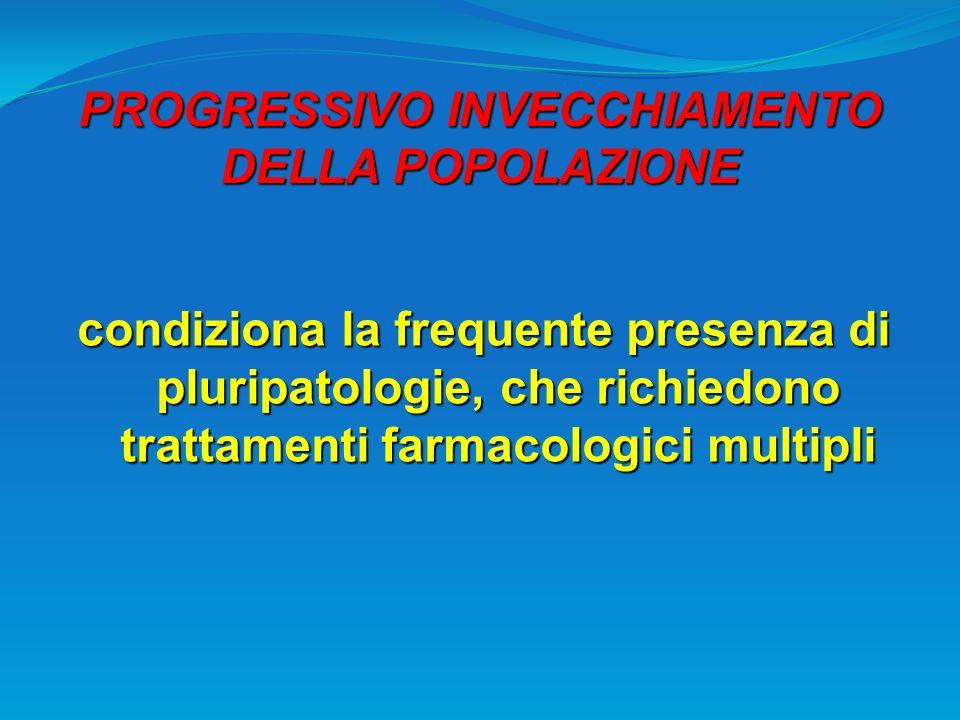 PROGRESSIVO INVECCHIAMENTO DELLA POPOLAZIONE