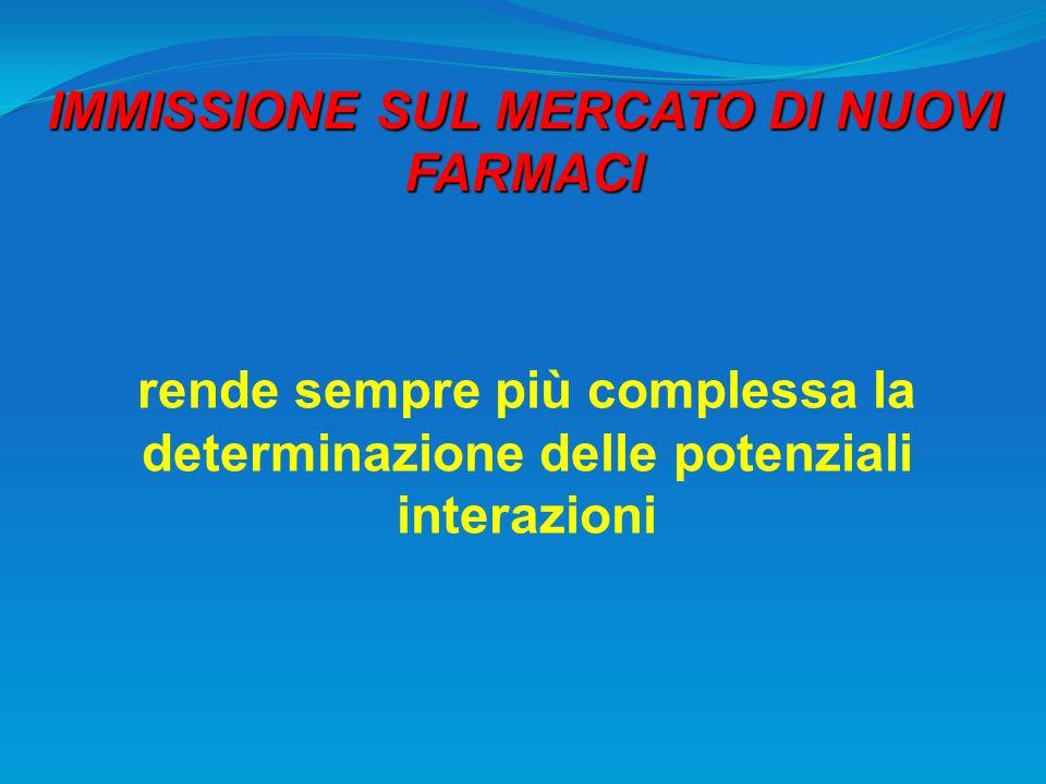 IMMISSIONE SUL MERCATO DI NUOVI FARMACI