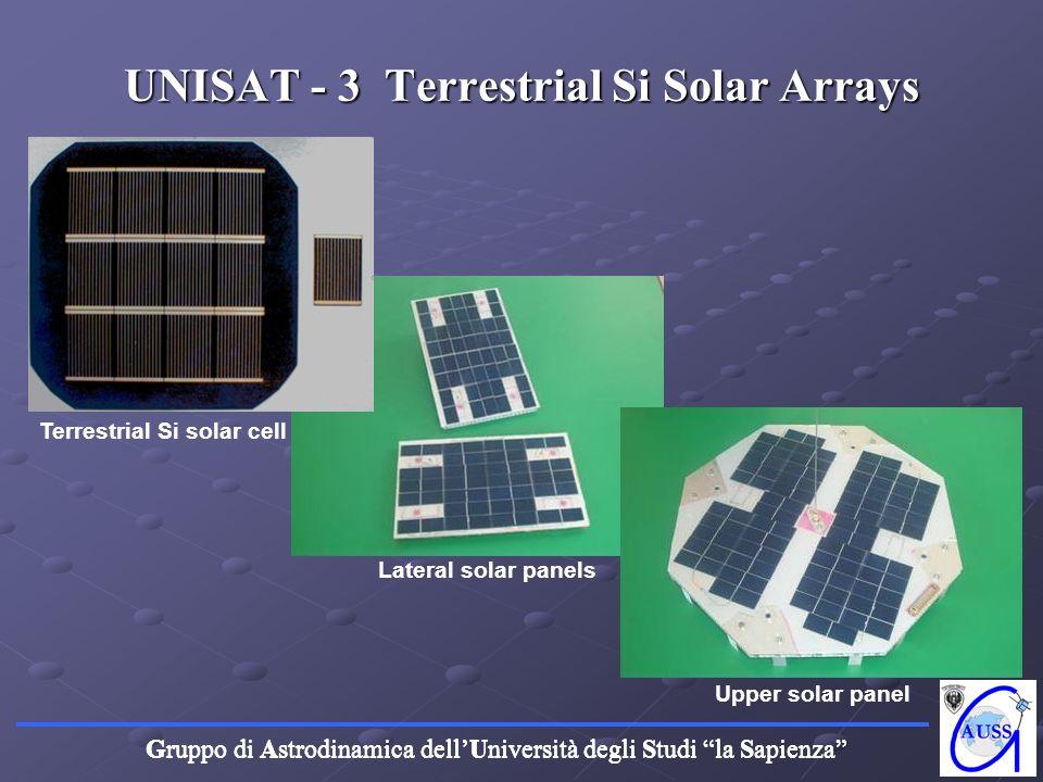 UNISAT - 3 Terrestrial Si Solar Arrays