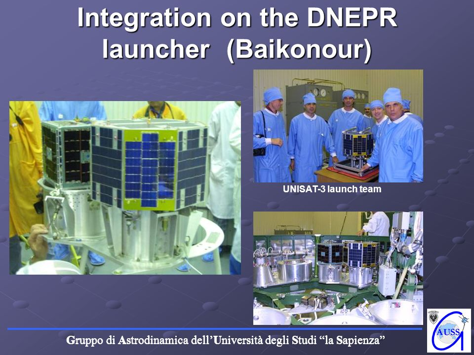 Integration on the DNEPR launcher (Baikonour)