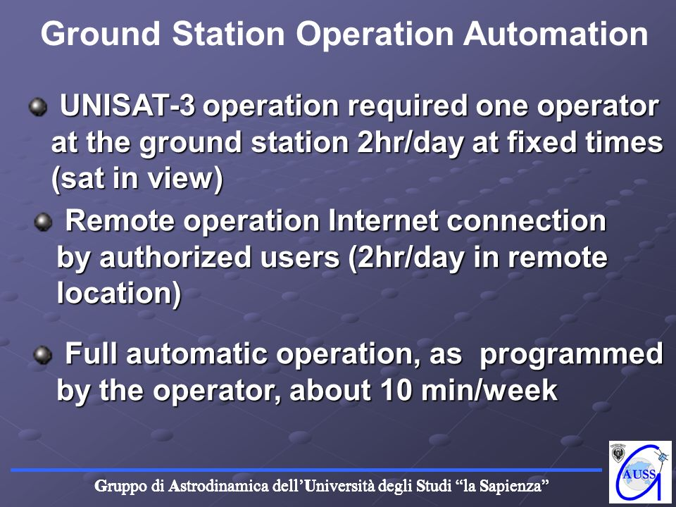 Ground Station Operation Automation