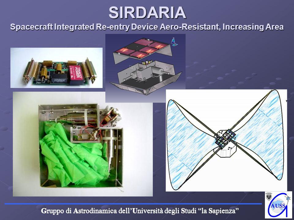 SIRDARIA Spacecraft Integrated Re-entry Device Aero-Resistant, Increasing Area