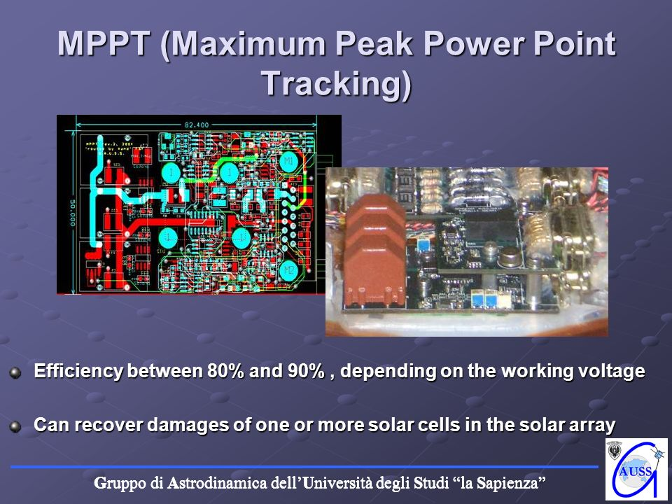 MPPT (Maximum Peak Power Point Tracking)