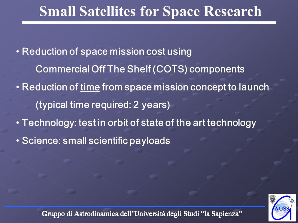Small Satellites for Space Research