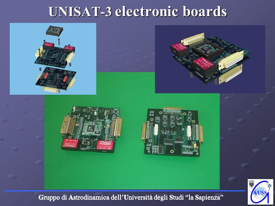 UNISAT-3 electronic boards