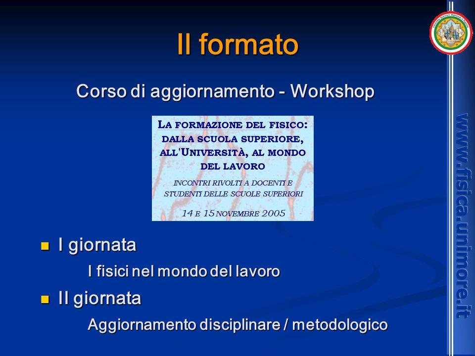 Corso di aggiornamento - Workshop