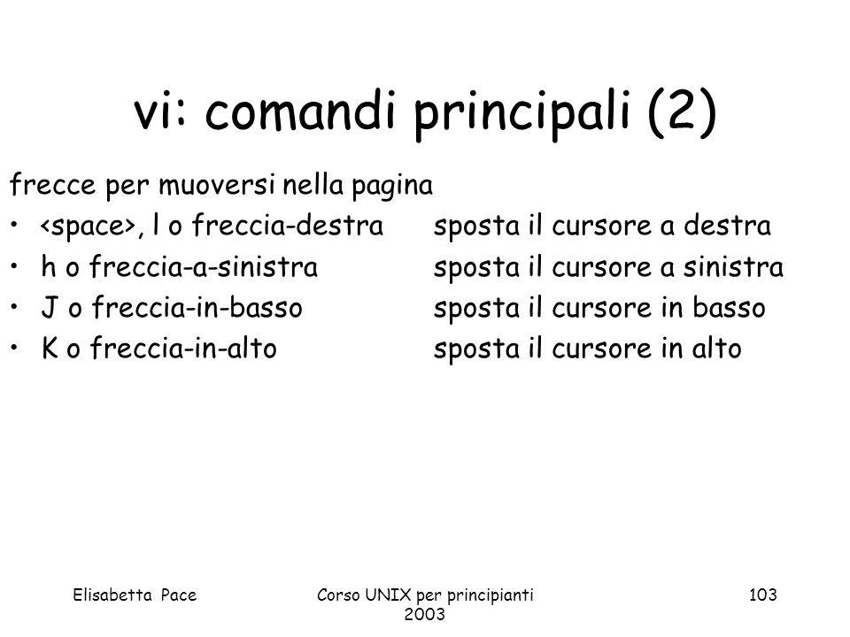 vi: comandi principali (2)