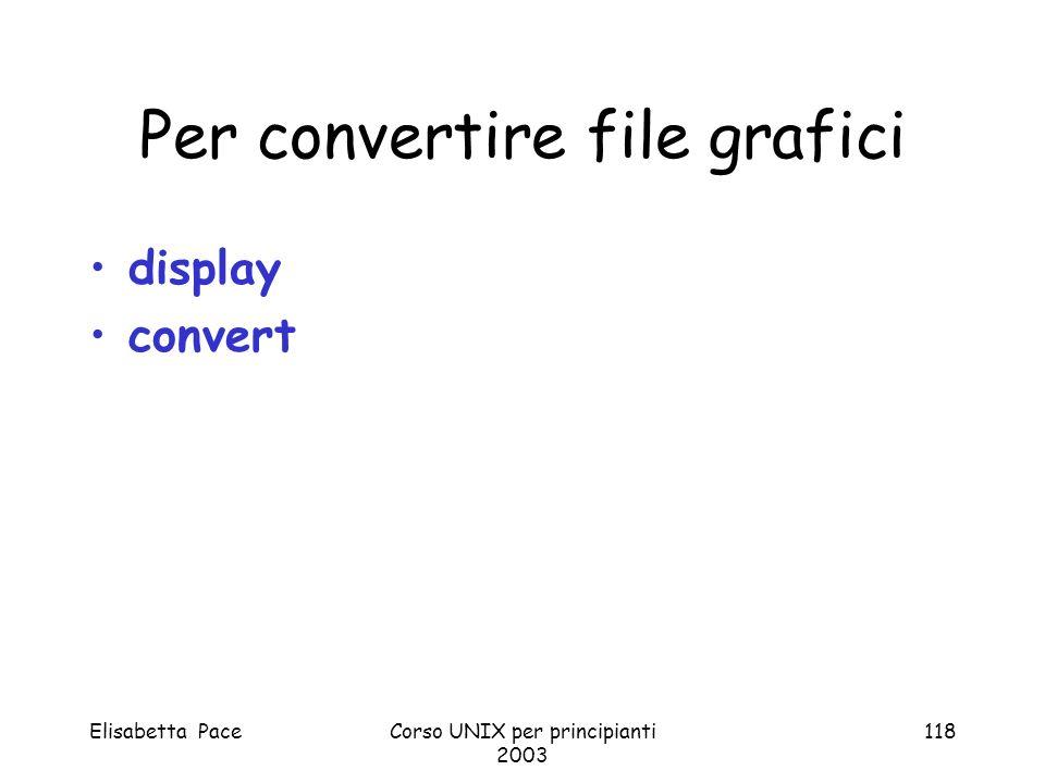 Per convertire file grafici