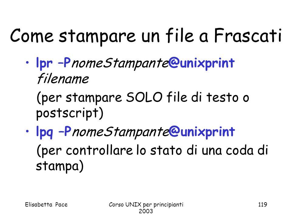 Come stampare un file a Frascati