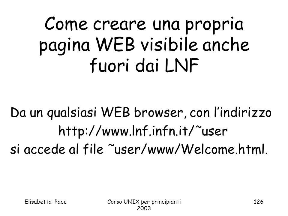 Come creare una propria pagina WEB visibile anche fuori dai LNF
