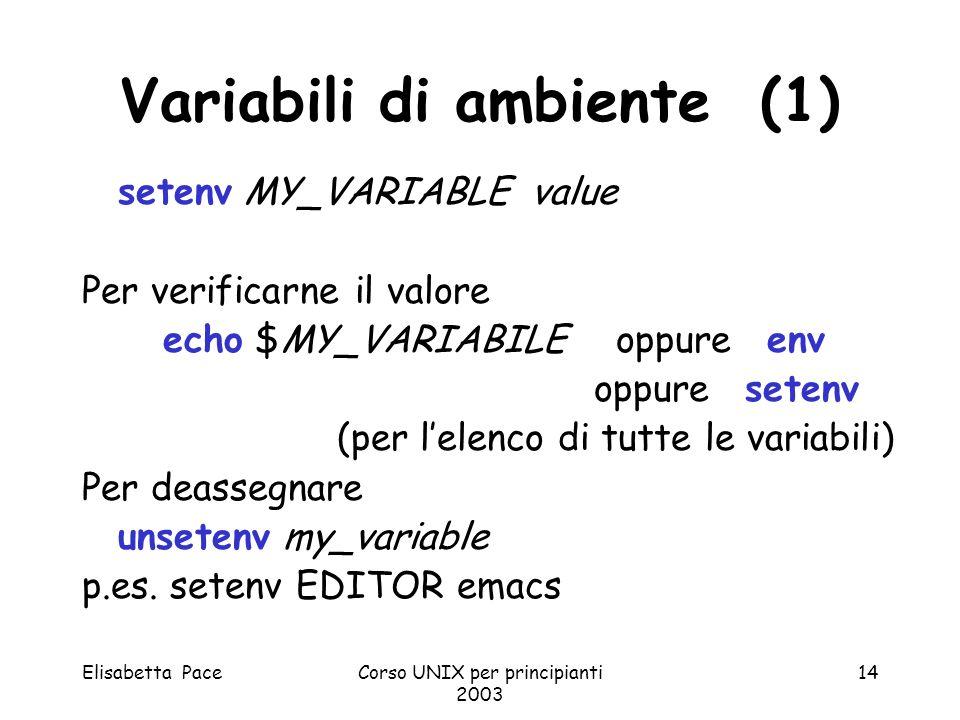 Variabili di ambiente (1)