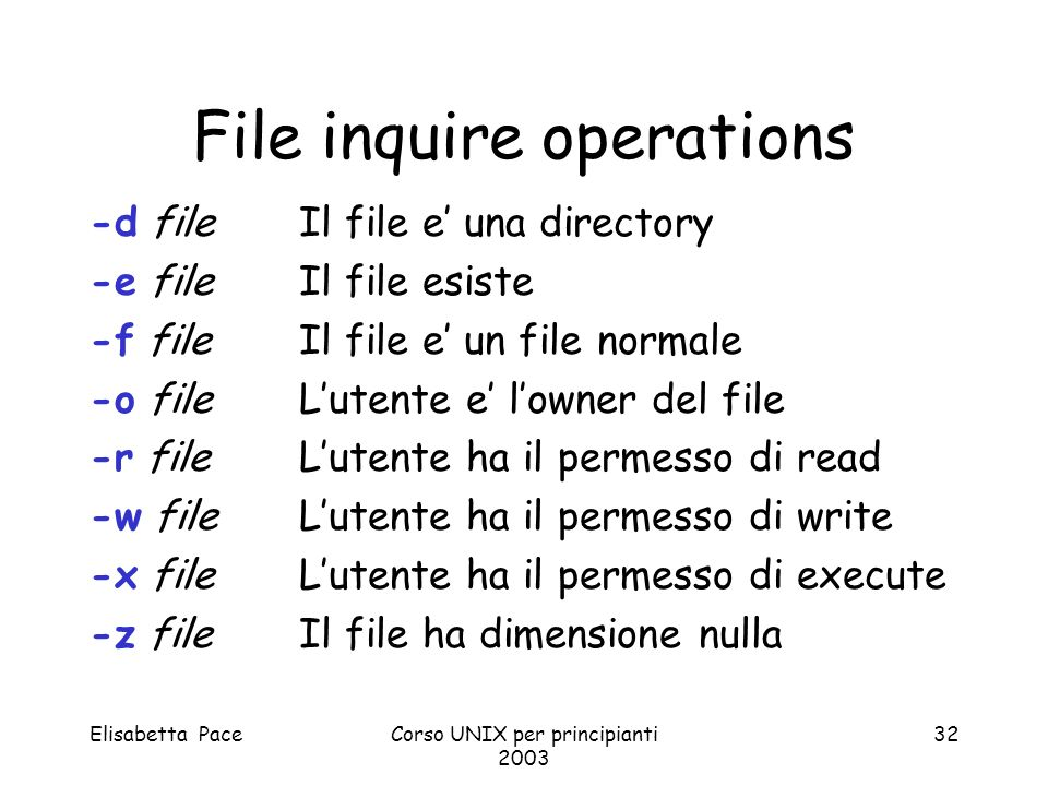 File inquire operations