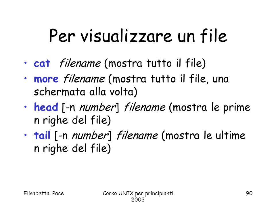 Per visualizzare un file