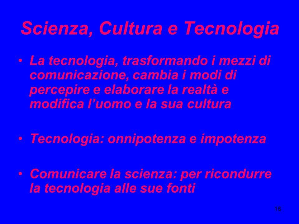 Scienza, Cultura e Tecnologia