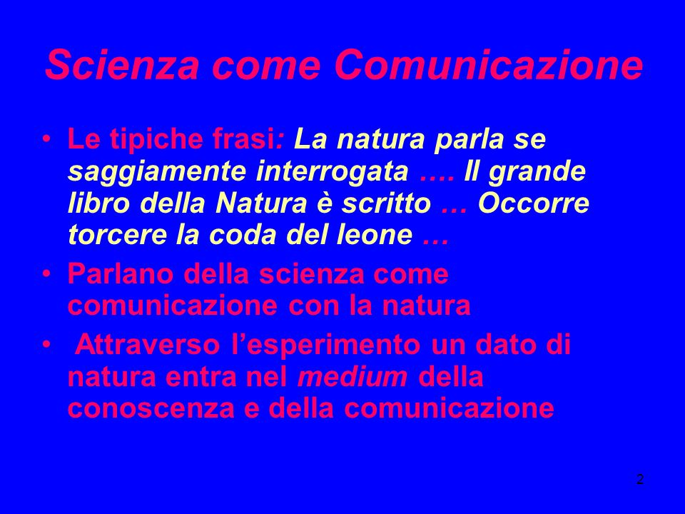Scienza come Comunicazione