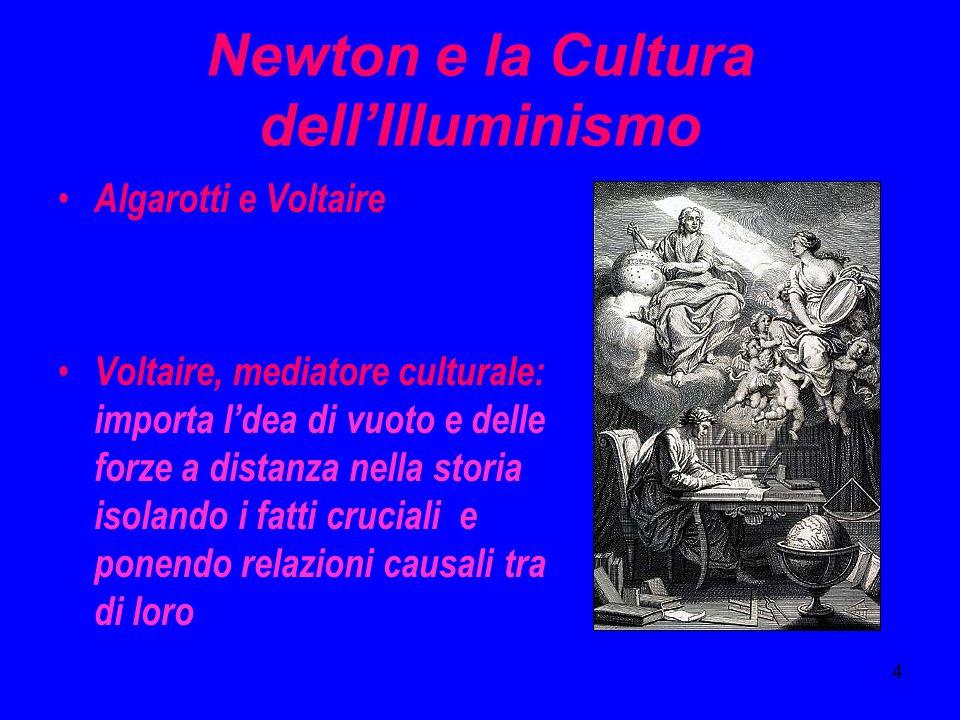Newton e la Cultura dell'Illuminismo