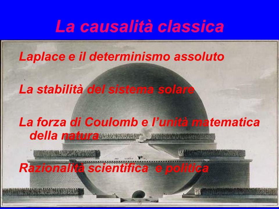 La causalità classica Laplace e il determinismo assoluto