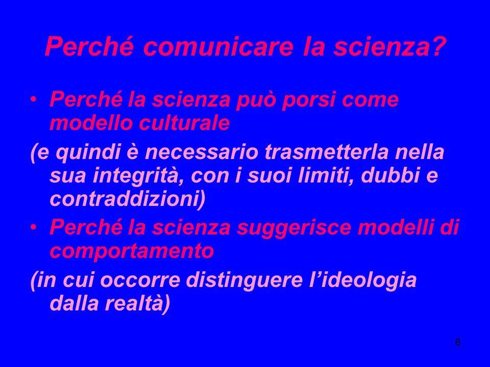 Perché comunicare la scienza