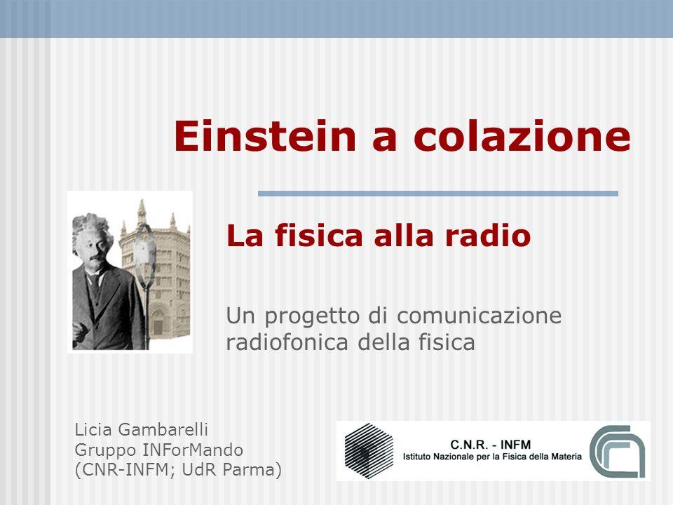 Einstein a colazione La fisica alla radio
