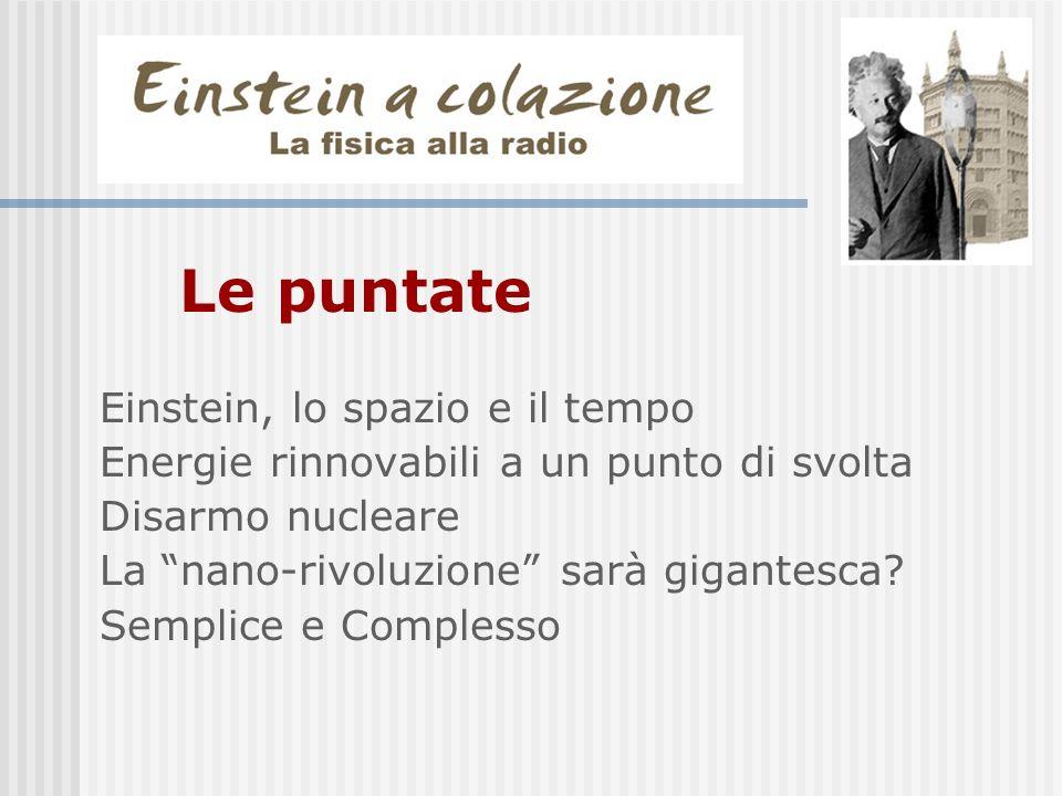 Le puntate Einstein, lo spazio e il tempo