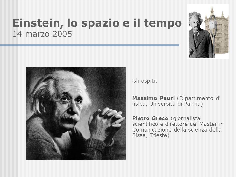 Einstein, lo spazio e il tempo