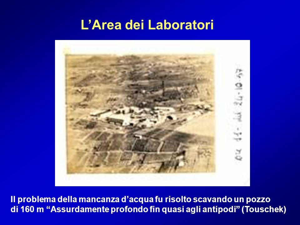 L'Area dei Laboratori Il problema della mancanza d'acqua fu risolto scavando un pozzo.