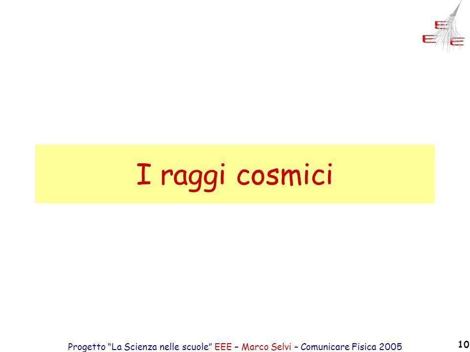 I raggi cosmici Progetto La Scienza nelle scuole EEE – Marco Selvi – Comunicare Fisica 2005