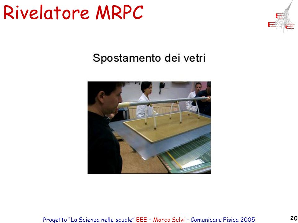 Rivelatore MRPC Progetto La Scienza nelle scuole EEE – Marco Selvi – Comunicare Fisica 2005