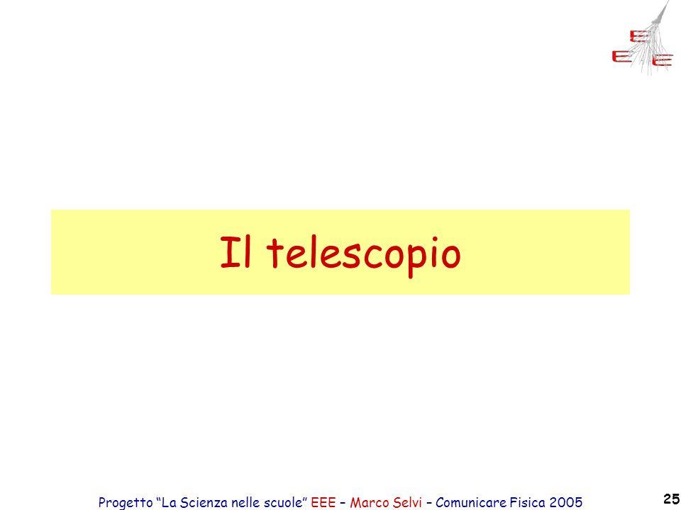 Il telescopio Progetto La Scienza nelle scuole EEE – Marco Selvi – Comunicare Fisica 2005