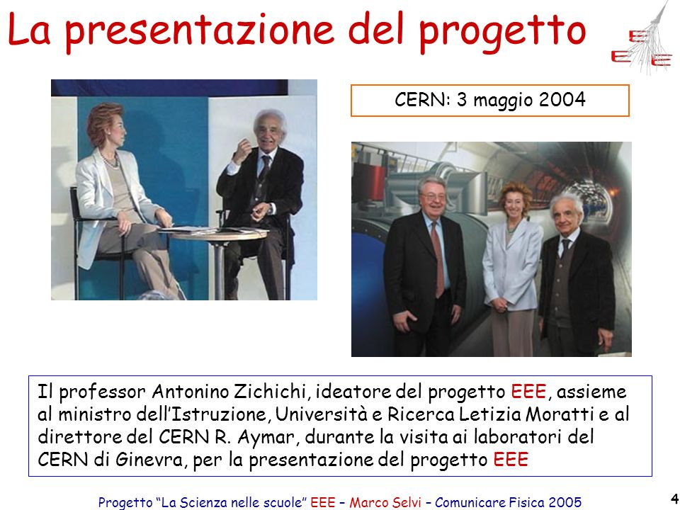 La presentazione del progetto