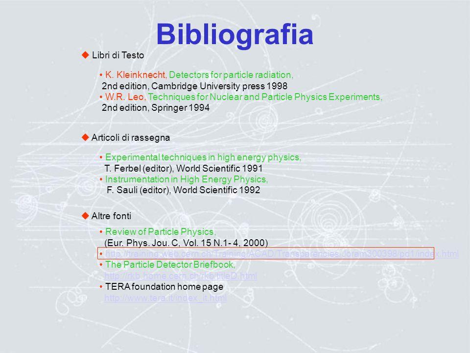 Bibliografia  Libri di Testo