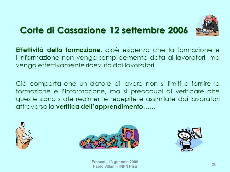 Corte di Cassazione 12 settembre 2006