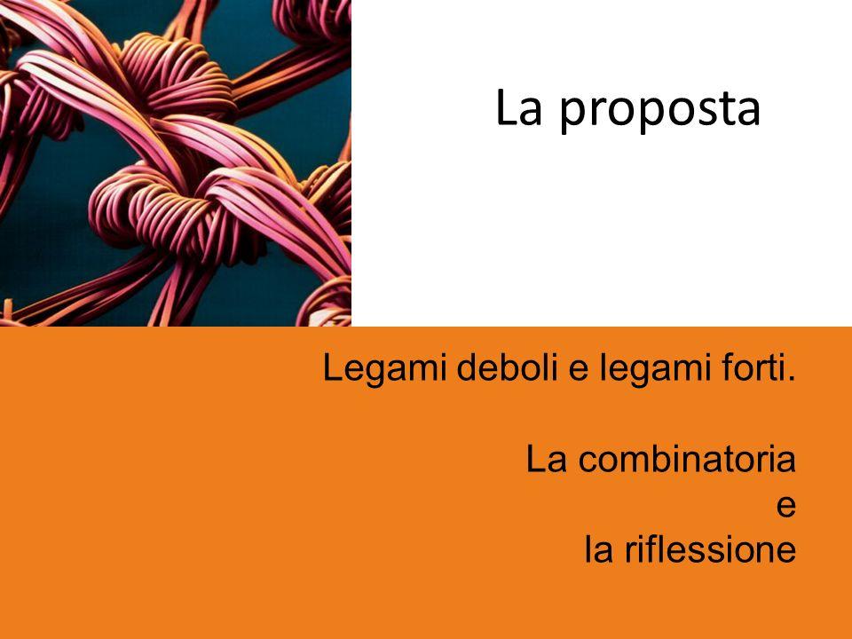 La proposta Legami deboli e legami forti. La combinatoria e