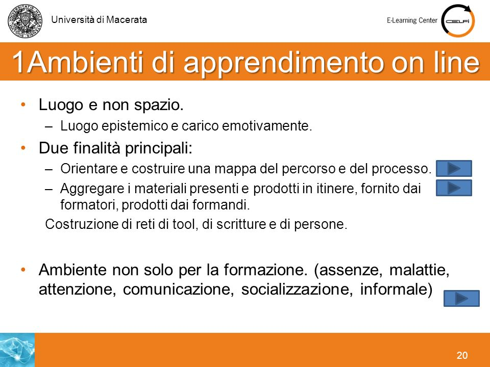 1Ambienti di apprendimento on line