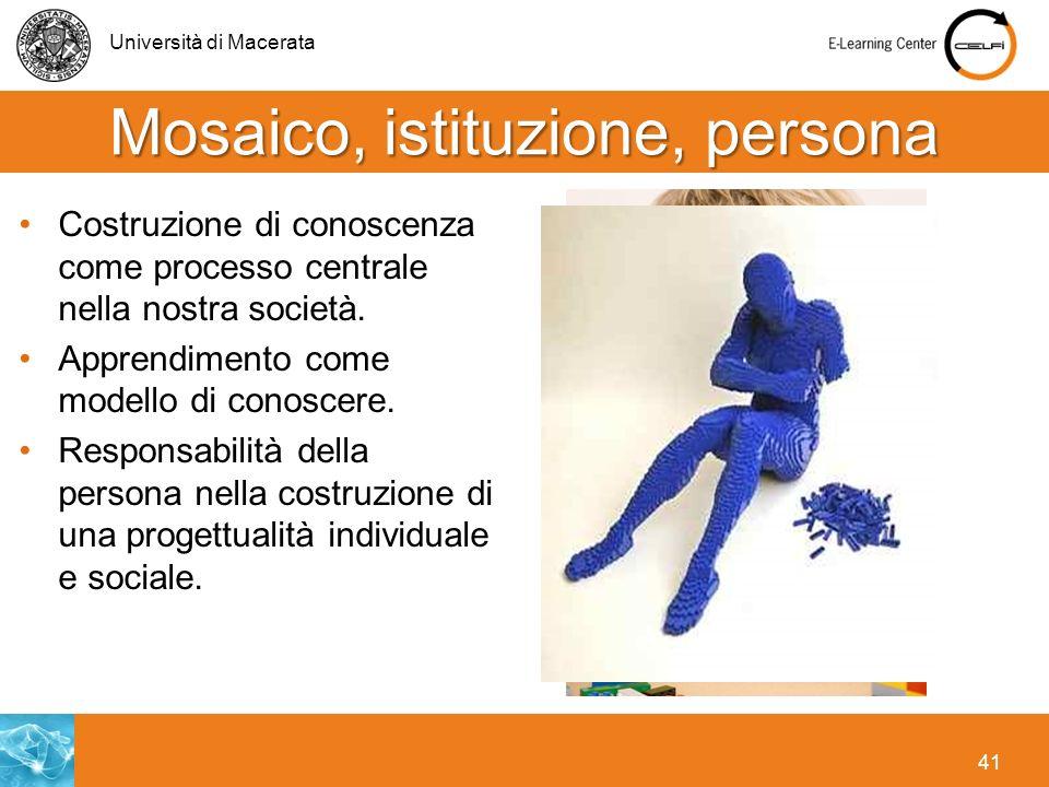 Mosaico, istituzione, persona
