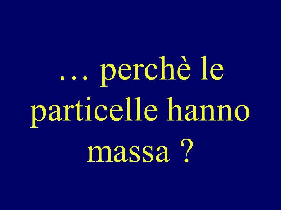… perchè le particelle hanno massa