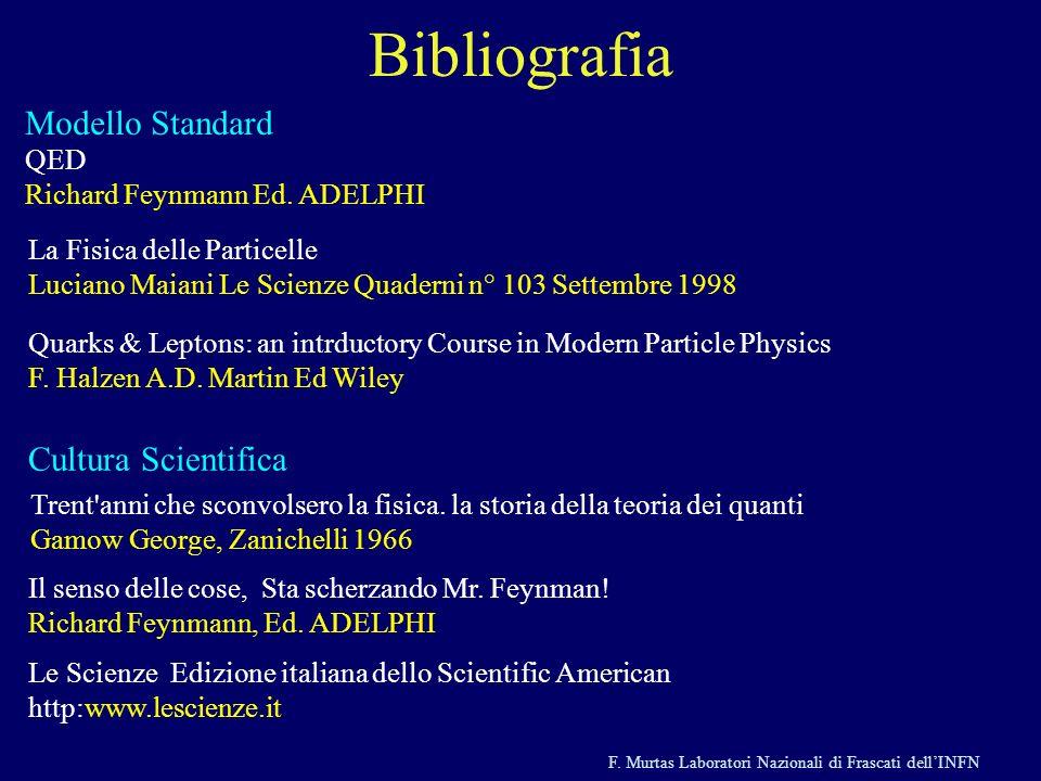 Bibliografia Modello Standard Cultura Scientifica